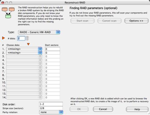 RAID Recovery for Mac, Recovers data from RAID systems, RAID